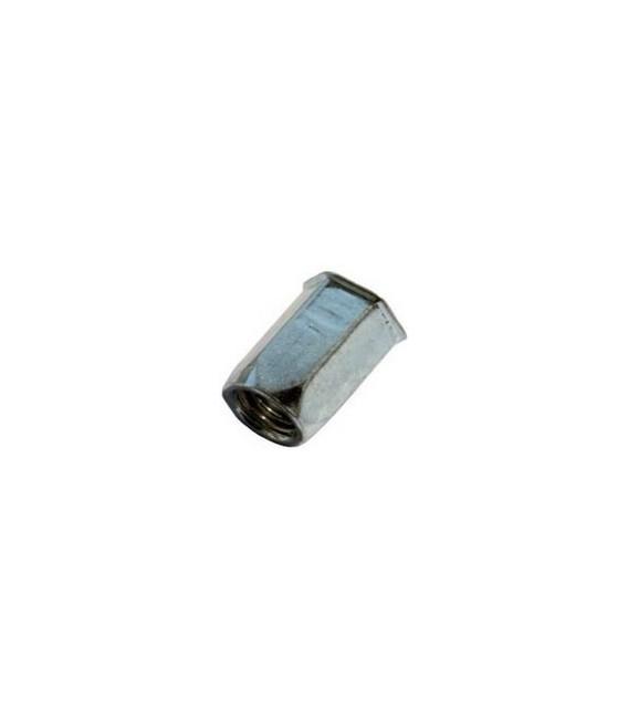 Заклепка M4*12 мм из стали с внутренней резьбой, уменьшенный бортик, шестигранная