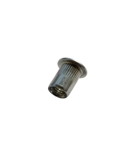 Заклепка M6*16 мм из нержавеющей стали с внутренней резьбой, цилиндрический бортик, с насечкой