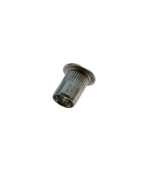 Заклепка M8*18,5 мм из нержавеющей стали с внутренней резьбой, цилиндрический бортик, с насечкой