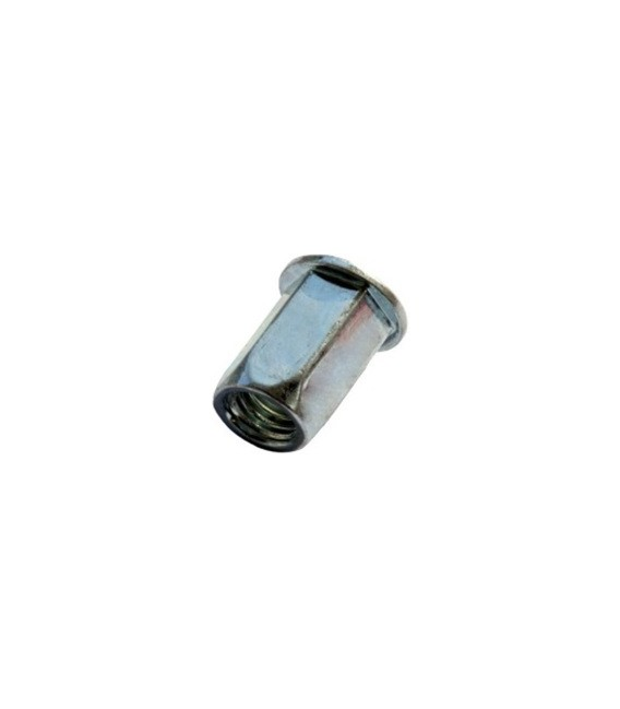 Заклепка M6*15,5 мм из стали с внутренней резьбой, цилиндрический бортик, шестигранная